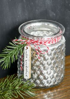 Beautiful Mercury glass votive holders from Dollar Tree get an inexpensive Christmas inspired makeover.