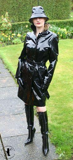 Shiny Black PVC Coat