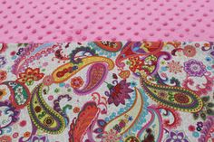 Pink Paisley Floral KinderMat Nap Mat Cot Cover Daydreamer by YarnkeeDoodle on Etsy
