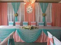 21st Party Decorations, Backdrop Decorations, Wedding Stage Backdrop, Wedding Reception, Yarn Color Combinations, Color Schemes, Wall Backdrops, Princess Wedding, Diy Birthday