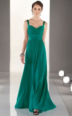 Zipper Floor-length Natural A-line Chiffon Formal Dresses b1400180