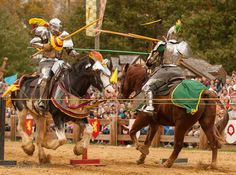 Paul Schneider jousts Larry Peterka during Ravenswood International Tournament 2014 (photo by Neil Rothschild) from - The Jousting Life