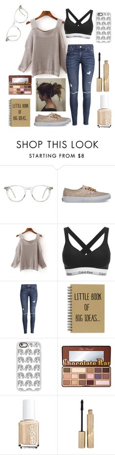 """""""Big Ideas"""" by dreamingofpink ❤ liked on Polyvore featuring Ace, Vans, WithChic, Calvin Klein, H&M, Casetify, Too Faced Cosmetics, Essie and Stila"""
