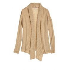 Enjoy 25% off Fall Favorites including sweaters and select tees and denim! Use code ENJOY25 at checkout. Camel colored cozy cardigan.