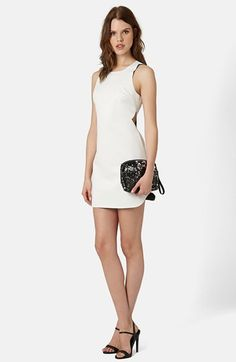 Topshop Raw Edge Cutout Body-Con Dress available at #Nordstrom
