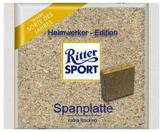 RITTER SPORT Fake Schokolade Spanplatte