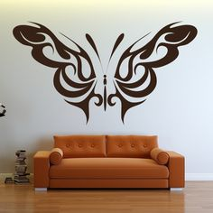 Awesome Wall Art Design With Patterned Wings Butterfly Design Wall