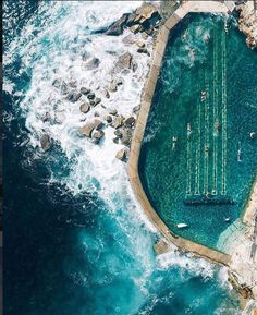 Bronte Swimming Pool in Sydney, Australia.