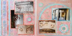 Naples, Italy travel scrapbook 2 page layout of the ruins of a house at Herculaneum - from Travel Album 11