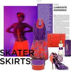"""skater skirt"" by pinkladiesfashionblog on Polyvore"