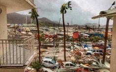 Hurricane Irma damage in St Martin 05 Sep 2017
