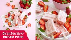 This strawberries and cream Popsicle is so delicious and super easy to make! It's the perfect dessert, snack or frozen treat recipe for summer! Dinner Party Menu, Dinner Party Recipes, Cocktail Recipes, Retro Recipes, My Recipes, Healthy Recipes, Strawberries And Cream, Frozen Treats, Popsicles