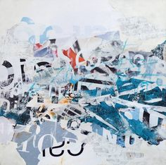 """David Fredrik Moussallem; Collage, """"Still Cared For""""   42"""" x 42"""""""