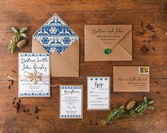 Watercolor wedding Invitations from @4lovepolkadots