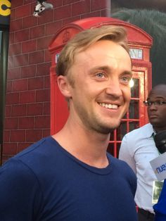 Tom Felton on the red carpet at The Wizarding World of Harry Potter - #DiagonAlleyPreview.  Diagon Alley opens July 8th!