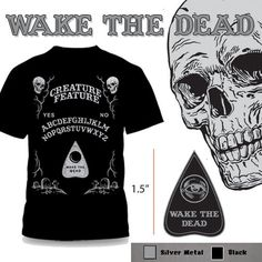 Help Creature Feature wake the Dead by purchasing your very own spirit board t-shirt and enamel pin combo. Save money and save additional shipping...