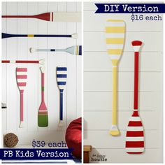 Pottery Barn Kids DIY Knockoff Oar Decor - The Happy Housie