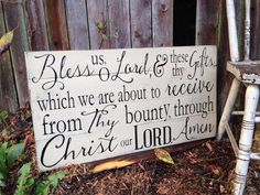 Bless us O Lord & These Thy Gifts Through Christ by PrimAtticSigns