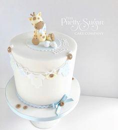 Cute giraffe baby shower cake