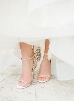 Winged wedding shoes    Kelli Durham