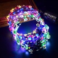 Reasonable New Girls Woman Boho Colorful Lighting Flashing Led Butterfly Flower Headband Garland Wreath Glow Party Christmas Halloween To Make One Feel At Ease And Energetic Event & Party