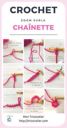 How to make a crochet chain? Hook technique for beginners on t … How to make a crochet chain? Crochet Stitches For Beginners, Crochet 101, Crochet Chain, Crochet Amigurumi, Knitting For Beginners, Crochet For Kids, Free Crochet, Pinterest Crochet, Loom Knitting