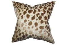 Hepzibah 18x18 Cotton Pillow, Brown