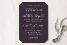 Bold/Typographic, Classical, Elegant, Formal, Typography Wedding Invitations + Free Guest Addressing | Minted