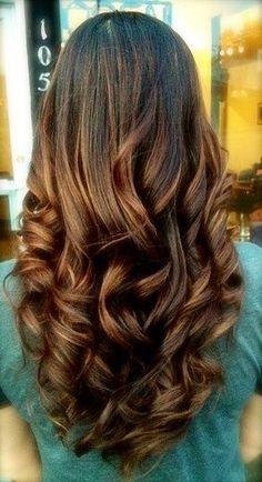I love her hair hair hair Long Brunette Hair, Brunette Ombre, Dark Brunette, Brunette Color, Ash Blonde, Corte Y Color, Great Hair, Hair Day, Gorgeous Hair