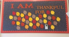 Thanksgiving Bulletin Board - Residents add what they are thankful for