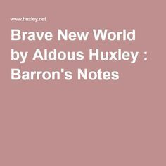 the plot and setting of aldous huxleys 1930s book brave new world Read more about brave new world  'brave new world' review a review of aldous huxley's  the book was criticized for a weak plot and characterization.