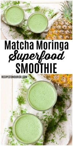 (ad) Treat yourself to this Matcha Moringa Superfood It's packed with antioxidants, vitamins and nourishing ingredients, plus it's sugar-free, dairy-free and delicious too. Recipes to Nourish Matcha recipe Moringa recipes Healthy smoothi Smoothie King, Smoothie Bowl, Smoothie Au Matcha, Smoothie Legume, Paleo Smoothie Recipes, Smoothie Fruit, Superfood Recipes, Healthy Smoothies, Healthy Drinks