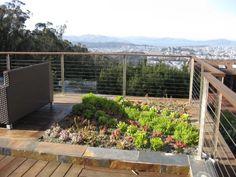 minimalistic deck railing
