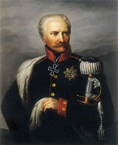 "Field Marshal Gebhard von Blucher, commander of Prussian forces at Leipzig and Waterloo. ""Give me night or give me Blucher"" (Wellington)."