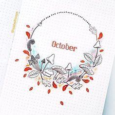 October Minimalist Spread by Bullet Journal October, Bullet Journal Hacks, Bullet Journal Themes, Bullet Journal Layout, Bullet Journal Inspiration, Bullet Journals, Filofax, Bujo Inspiration, Cool Journals