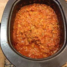 chili recipe Make and share this No Bean Chili recipe from . Chilli Recipes, Gourmet Recipes, Crockpot Recipes, Soup Recipes, Cooking Recipes, Healthy Recipes, Healthy Foods, How To Cook Chili, Slow Cooker