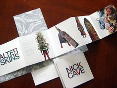brochure for Nick Cave by Allison Wilton.