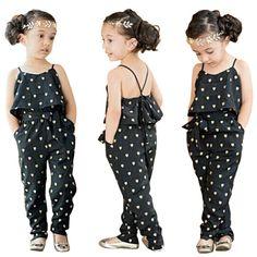 Conjunto de roupas de Verão 2016 de Moda Infantil Do Bebê Meninas de Verão Coração Padrão Outfits Jumpsuit Romper Calças Com Cinto