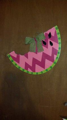 Summer fun watermelon door hanger on Etsy, $30.00