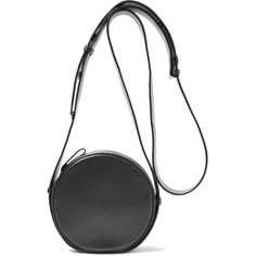 Diane von Furstenberg Circle leather shoulder bag (3.992.390 IDR) ❤ liked on Polyvore featuring bags, handbags, shoulder bags, black, zipper purse, leather handbags, genuine leather purse, shoulder bag purse and real leather purses