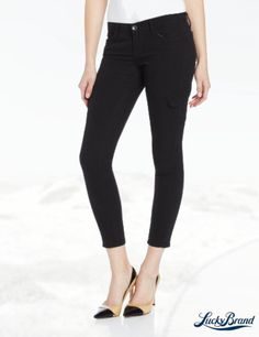 Lucky Brand Women's Charlie Super Skinny Cargo Jean in Lucky Black