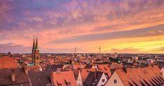 Nürnberg Panorama Ausblick und Sonnenuntergang