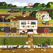 Charles Wysocki - Amish Neighbors  Love the simplicity and fun of working his puzzles