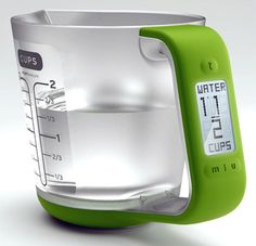 This is the Smart Measure Cup. It's a simple, great idea—a measuring cup that displays precise volume on a backlit LCD complete with unit conversion. So great, in fact, that it's been rebranded and picked up for manufacture: