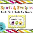 Book bin / basket labels to organize your classroom library!   Use these bright and colorful polka dot / stripe themed book bin labels to organize ...