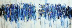 Pintura arte pintura azul gran pintura abstracta por jolinaanthony