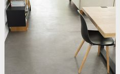 Power floated PFL oxide with minimal construction cuts. Sealed with PFL Acrylic Sealer Interior Design Institute, Concrete Color, Floor Finishes, House Front, Great Rooms, Floors, Tile Floor, Tiles, Dining Chairs