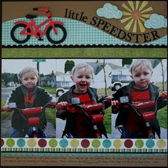 "Cute ""Little Speedster"" Scrapping Layout...C Chace - twopeasinabucket."