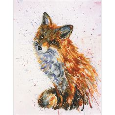 """Foxy Counted Cross Stitch Kit-8.75""""X11.5"""" 16 Count"""