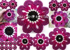 The 8th Gem: 8 PETAL PINK/PURPLE FLOWER